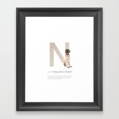 N is for Neapolitan Mastiff Framed Art Print