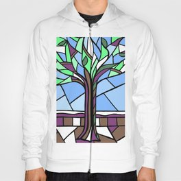 Stained Glass Tree Design Hoody