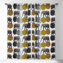 Tribal Elephants Blackout Curtain