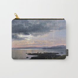 Twighlight over a lake - Hermann Ottomar Herzog Carry-All Pouch