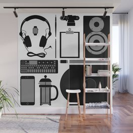 Studio Objects Vector Illustration Wall Mural