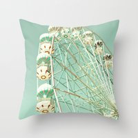return Throw Pillows featuring Last Return by Caroline Mint