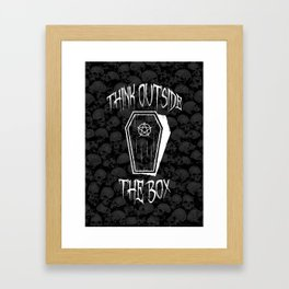 Think Outside The Box Goth Coffin Humour Framed Art Print
