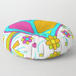 Peace and Love Drawing Floor Pillow