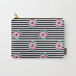 poppies stripes Carry-All Pouch