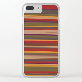 Fourth Doctor Scarf Clear iPhone Case