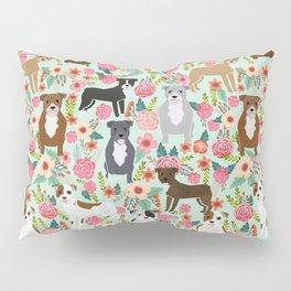 Pitbull florals mixed coats pibble gifts dog breed must have pitbulls florals Pillow Sham
