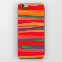the strokes iPhone & iPod Skins featuring Strokes by Rebecca Allen