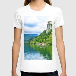 Lake Bled summer forest Slovenia Europe T-shirt