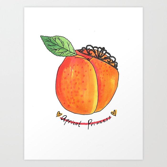 dd05c65e9 Apricot Princess Art Print by edecurve