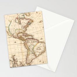 Map of North and South America (1660) Stationery Cards