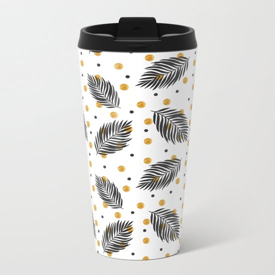 Black and gold Metal Travel Mug