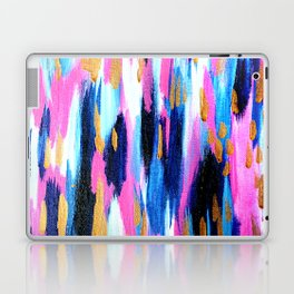 Spring Golden - Pink and Navy Abstract Laptop & iPad Skin