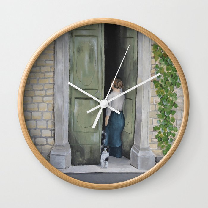 Going In and Out Wall Clock