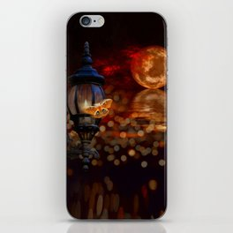 Like A Moth To A Flame iPhone Skin
