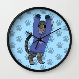 thesweatercats Luna Kitty dance v2 Wall Clock