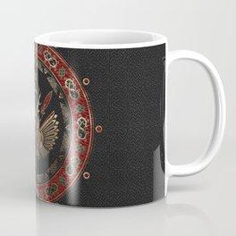 Gungnir - Spear of Odin Black and Red Leather and gold Coffee Mug