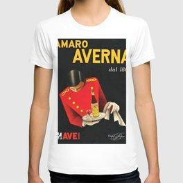 Amaro Sicilian Aperitif Averna Red Wine Italia Vintage Advertising Poster T-shirt