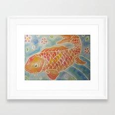 Koi Illustration Framed Art Print