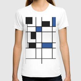 Indigo , abstract , geometric T-shirt