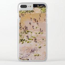 VISTA AEREA DE PLAYA CON GENTE Clear iPhone Case