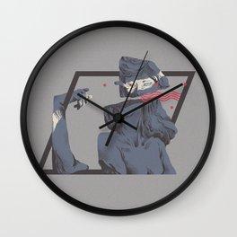 Preprogrammed window Wall Clock
