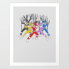 Mighty Morphing Lone Rangers Art Print