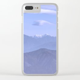Blue Mountains Clear iPhone Case