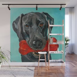 Ozzie the Black Labrador Retriever Wall Mural