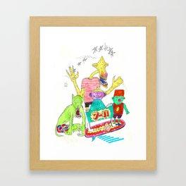 7-11 surf Framed Art Print