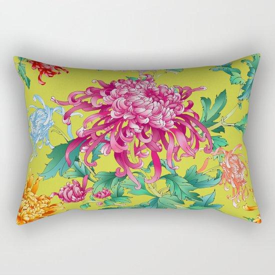 Oriental Flowers Rectangular Pillow