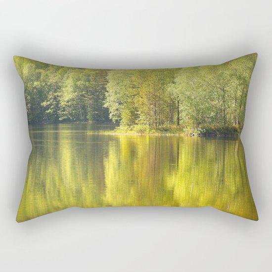 Summer Green Reflection  Rectangular Pillow