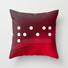Red Abstract Passion Throw Pillow