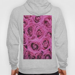 Romantic rose pink blooming roses Hoody