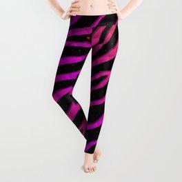 Ripped SpaceTime Stripes - Orange/Pink Leggings