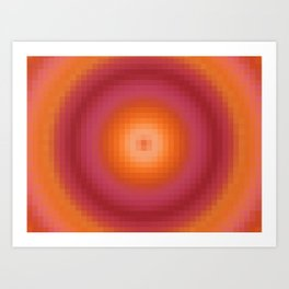 Ripple II Pixelated Art Print