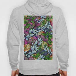 Floral Abstract Artwork G464 Hoody