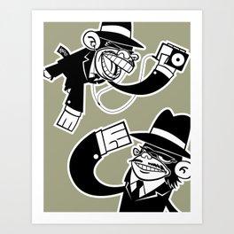 Köpke's Mafia Monkeys! Art Print