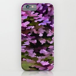 Foliage Abstract Pop Art In Ultra Violet and Purple iPhone Case