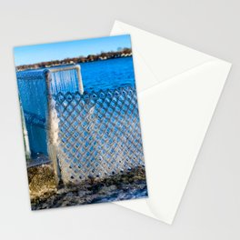 Frozen Fence at Van Buren Point  Stationery Cards