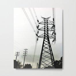 High Voltage Metal Print