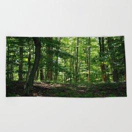 Pine tree woods Beach Towel