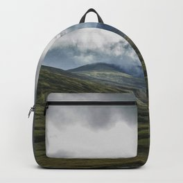 Scottish Mountains with Rain Clouds Backpack