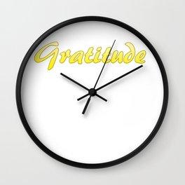 Inspiration Words...Gratitude Wall Clock