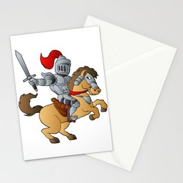 Knight on Horse Stationery Cards