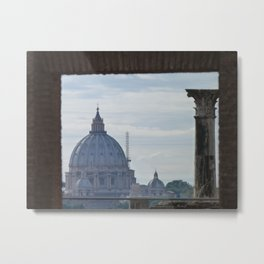 Saint Peter's Basilica framed by Domus Augustea Metal Print