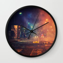 Nights of protest - Venezuela Wall Clock