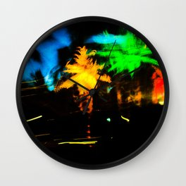 Night at the beach Wall Clock