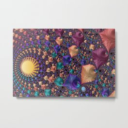 pattern art ornament fractal Metal Print