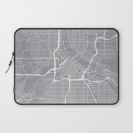 Minneapolis Map, Minnesota USA - Pewter Laptop Sleeve